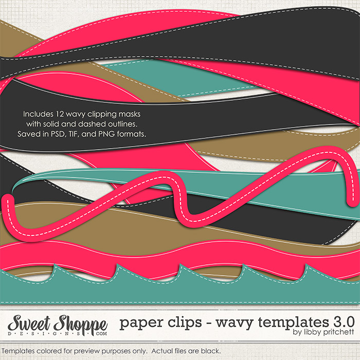 Paper Clips - Wavy Templates 3.0 by Libby Pritchett