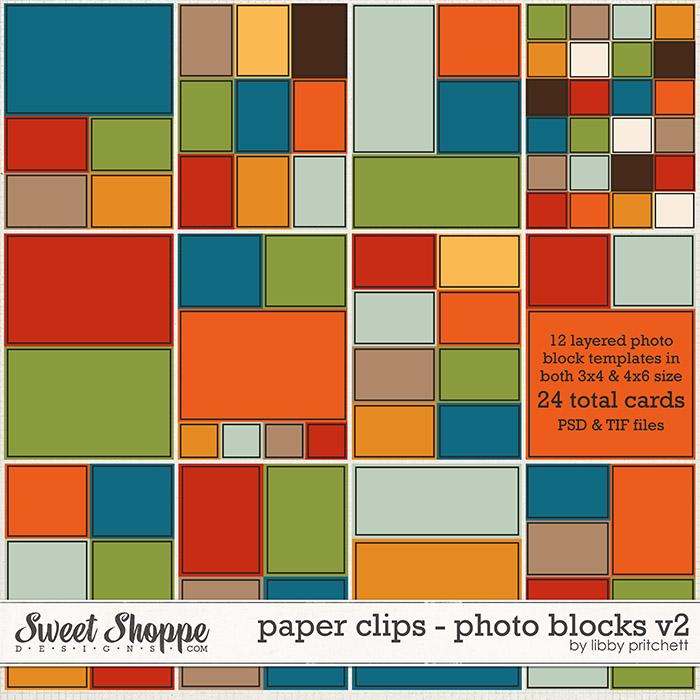 Paper Clips - Photo Blocks v2 by Libby Pritchett