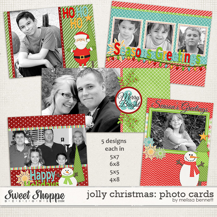 Jolly Christmas Photo Cards by Melissa Bennett