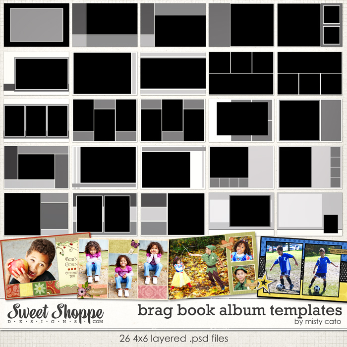 Brag Book Album Templates by Misty Cato