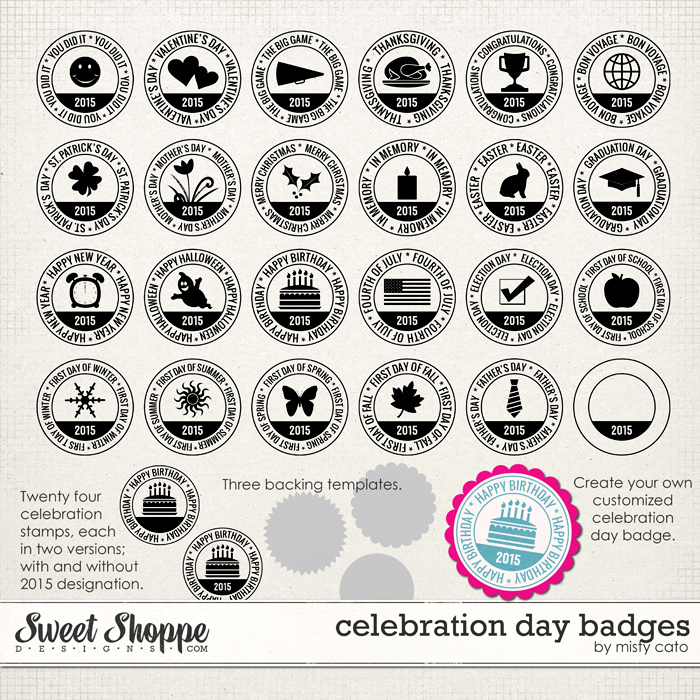 Celebration Day Badges by Misty Cato
