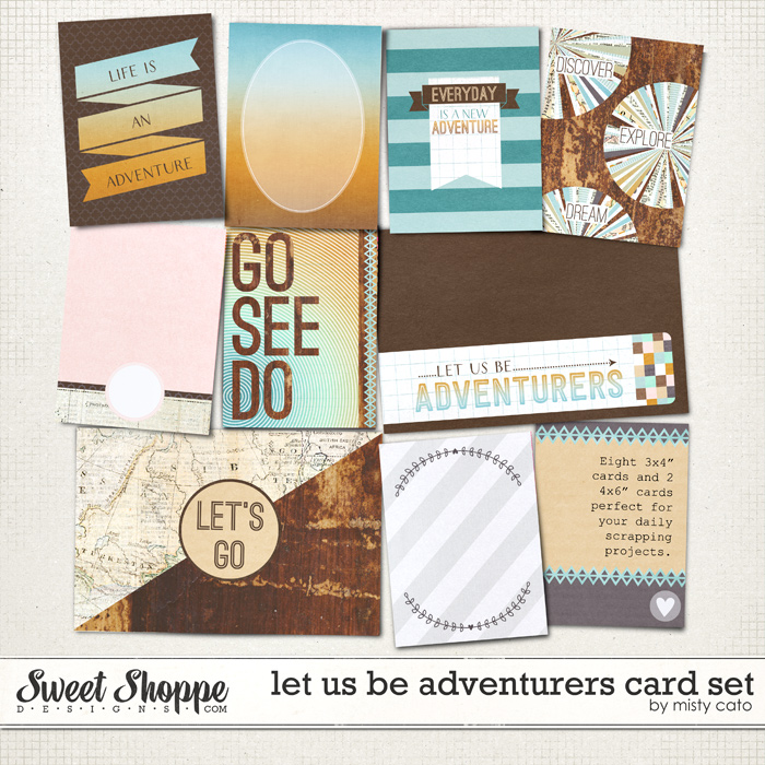 Let Us Be Adventurers Card Set by Misty Cato