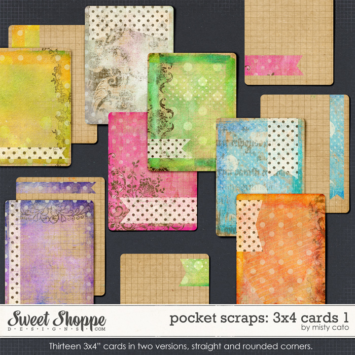 Pocket Scraps: 3x4 Cards 1 by Misty Cato