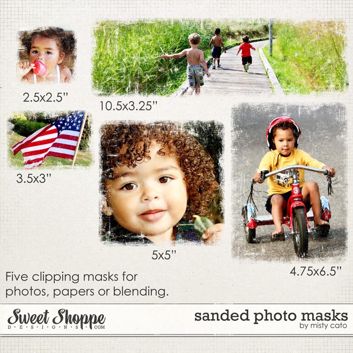 Sanded Photo Masks by Misty Cato