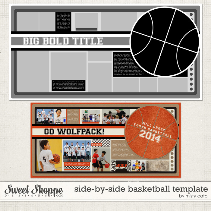 Side by Side Basketball Template by Misty Cato