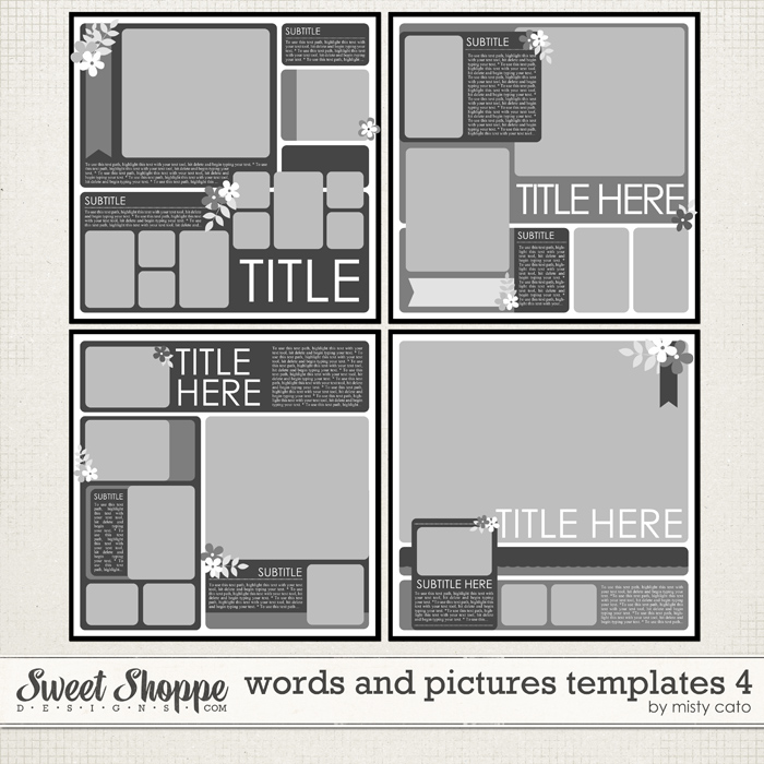 Words and Pictures Templates 4 by Misty Cato