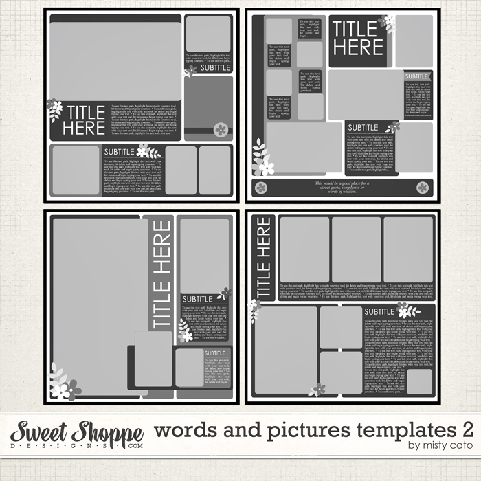 Words and Pictures Templates 2 by Misty Cato