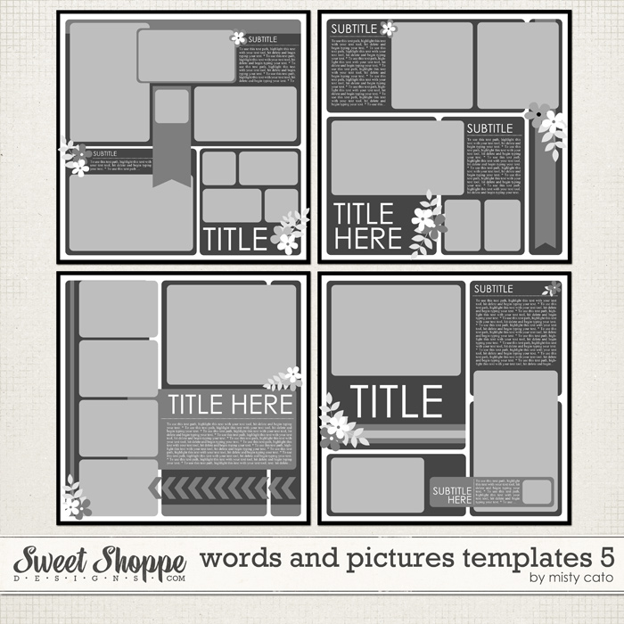 Words and Pictures Templates 5 by Misty Cato