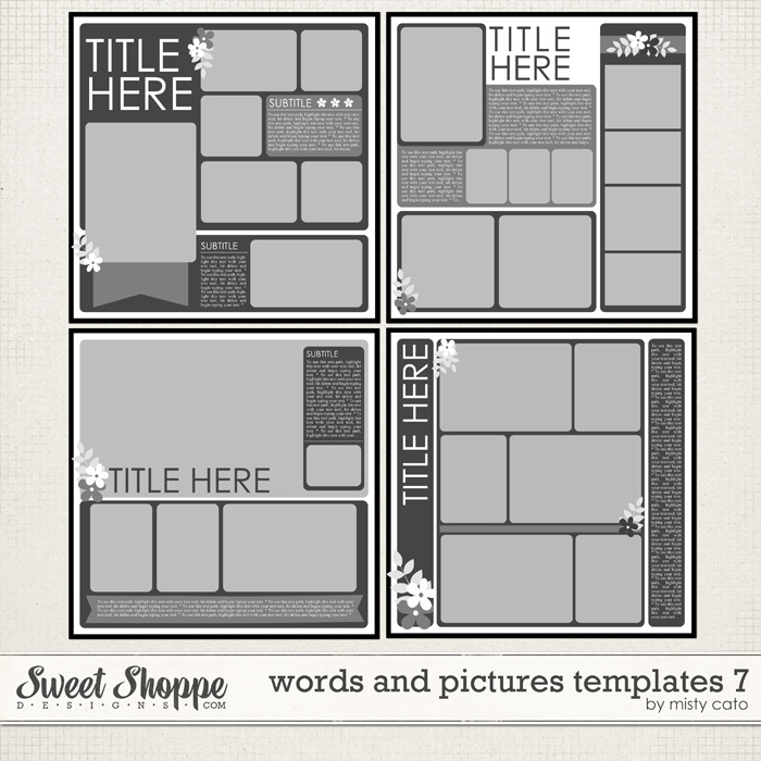 Words and Pictures Templates 7 by Misty Cato