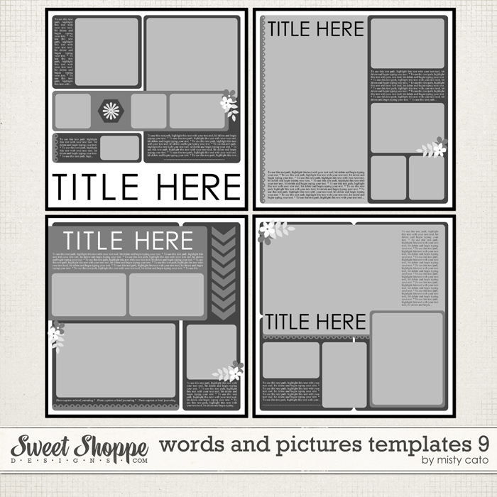 Words and Pictures Templates 9 by Misty Cato