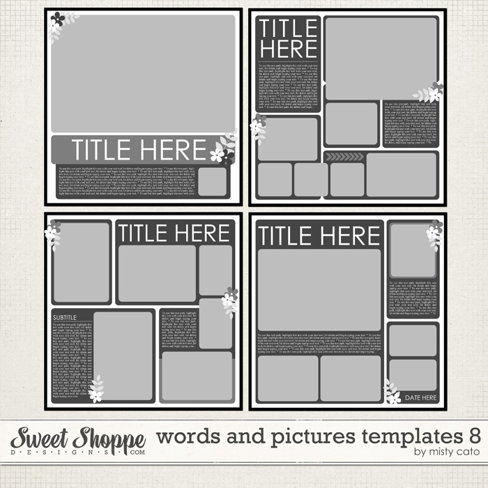 Words and Pictures Templates 8 by Misty Cato
