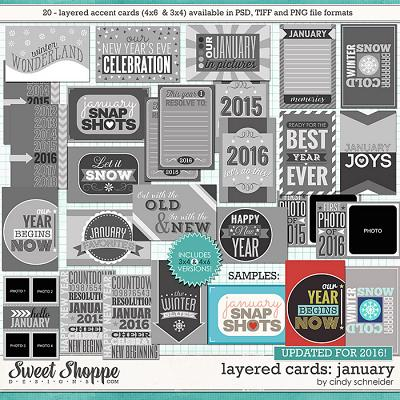 Cindy's Layered Cards: January Edition by Cindy Schneider