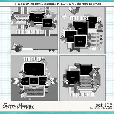 Cindy's Layered Templates - Set 195 by Cindy Schneider