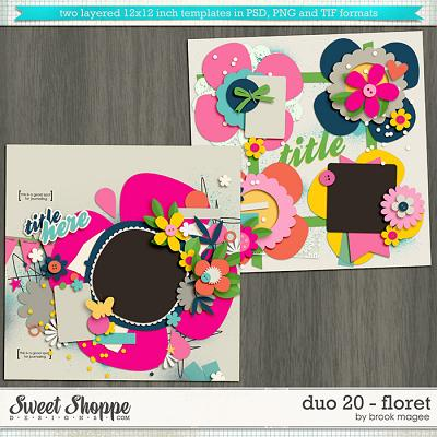 Brook's Templates - Duo 20 - Floret by Brook Magee