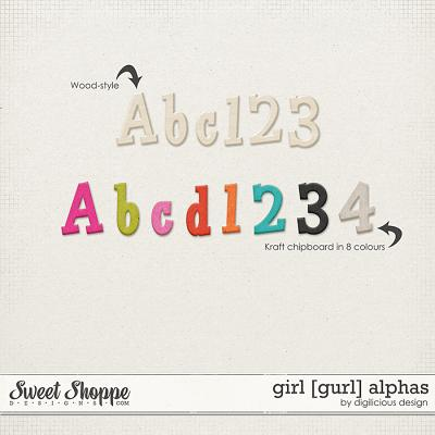 Girl Alphas by Digilicious Design