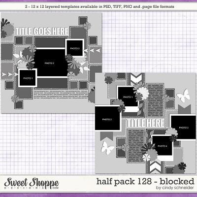 Cindy's Layered Templates - Half Pack 128: Blocked by Cindy Schneider