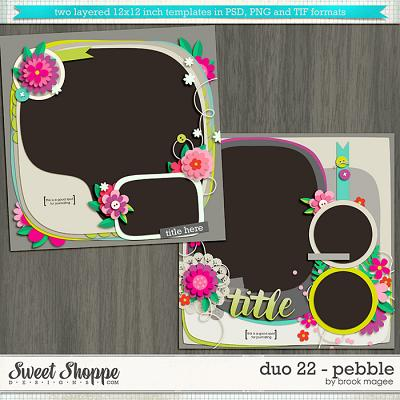 Brook's Templates - Duo 22 - Pebble by Brook Magee