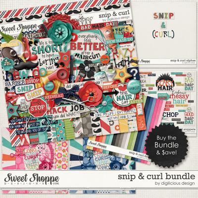 Snip & Curl Bundle by Digilicious Design