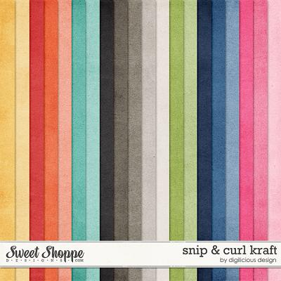 Snip & Curl Kraft by Digilicious Design
