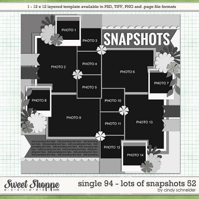 Cindy's Layered Templates - Single 94: Lots of Snapshots 52 by Cindy Schneider