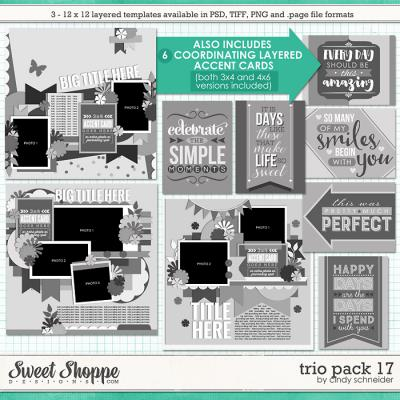 Cindy's Layered Templates - Trio Pack 17 by Cindy Schneider