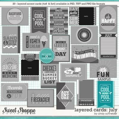 Cindy's Layered Cards: July Edition by Cindy Schneider