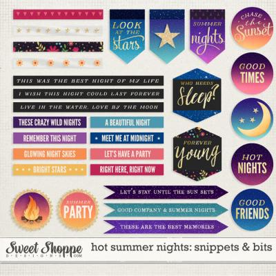 Hot Summer Nights: Snippets & Bits by Kristin Cronin-Barrow