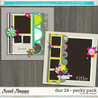 Brook's Templates - Duo 24 - Perky Pack by Brook Magee