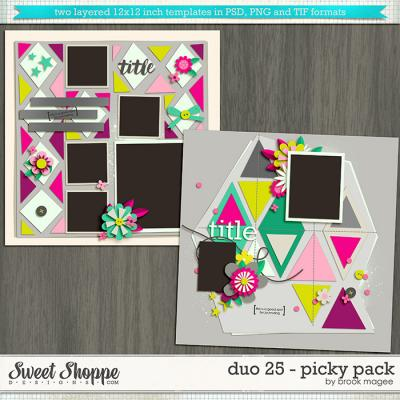 Brook's Templates - Duo 25 - Picky Pack by Brook Magee