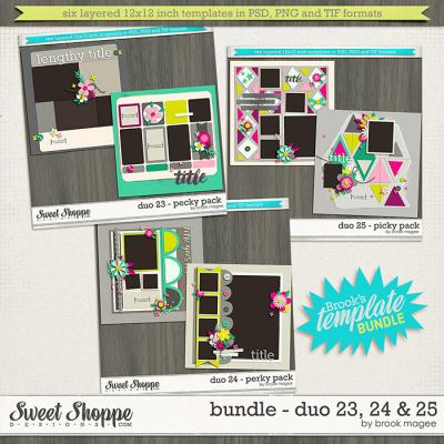 Brook's Templates - Bundle - Duo 23, 24 & 25 by Brook Magee