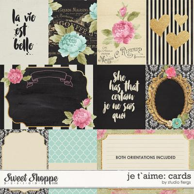 je t`aime: CARDS by Studio Flergs