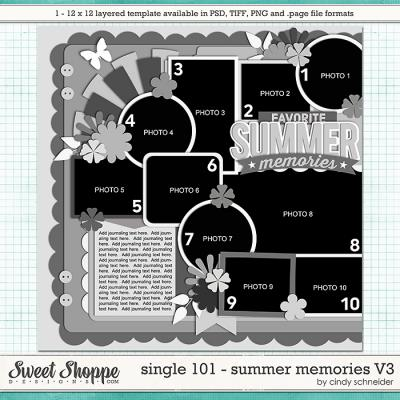 Cindy's Layered Templates - Single 101: Summer Memories V3 by Cindy Schneider