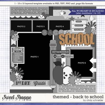 Cindy's Layered Templates - Themed: Back to School by Cindy Schneider