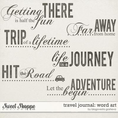 Travel Journal: Word art by Blagovesta Gosheva