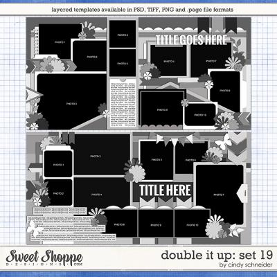 Cindy's Layered Templates: Double It Up Set 19 by Cindy Schneider