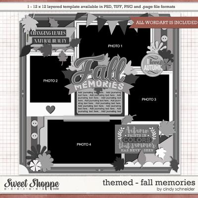 Cindy's Layered Templates - Themed: Fall Memories by Cindy Schneider