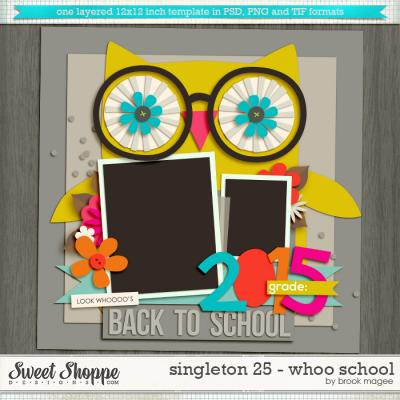 Brook's Templates - Singleton 25 - Whoo School by Brook Magee