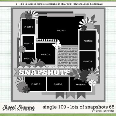 Cindy's Layered Templates - Single 109: Lots of Snapshots 65 by Cindy Schneider