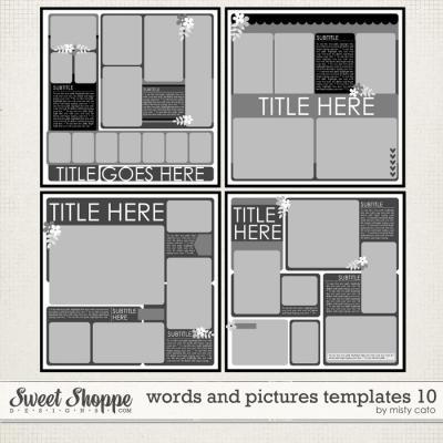 Words and Pictures Templates 10 by Misty Cato