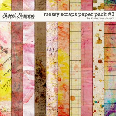 Messy Scraps Paper Pack #3 by Studio Basic