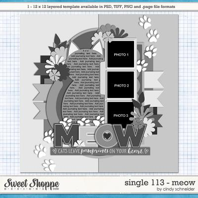 Cindy's Layered Templates - Single 113: MEOW by Cindy Schneider