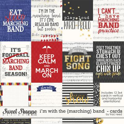 I'm With The {Marching} Band Cards by Traci Reed