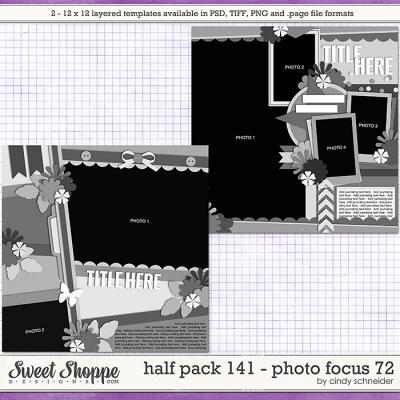 Cindy's Layered Templates - Half Pack 141: Photo Focus 72 by Cindy Schneider