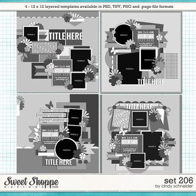 Cindy's Layered Templates - Set 206 by Cindy Schneider