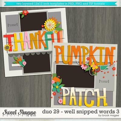 Brook's Templates - Duo 29 - Well Snipped Words 3 by Brook Magee