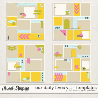 Our Daily Lives Templates Vol.1 by Digital Scrapbook Ingredients