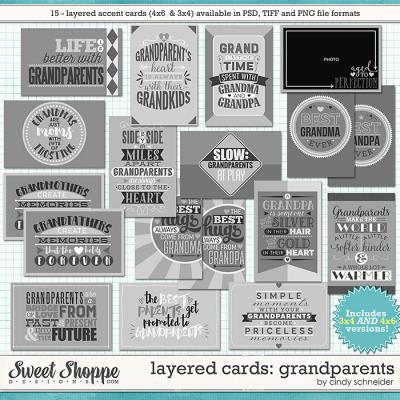 Cindy's Layered Cards - Grandparents by Cindy Schneider