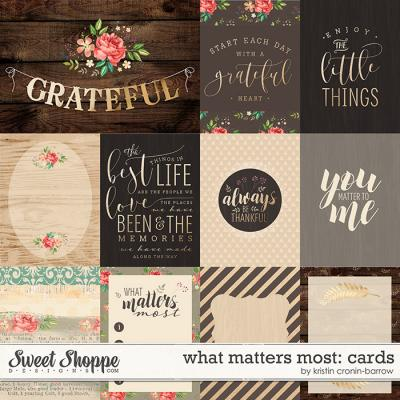 What Matters Most: Cards by Kristin Cronin-Barrow