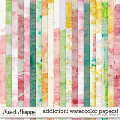 Addiction: Watercolor Papers! by Studio Basic