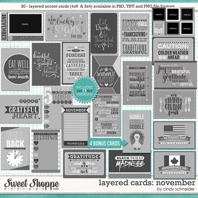 Cindy's Layered Cards - November Edition by Cindy Schneider